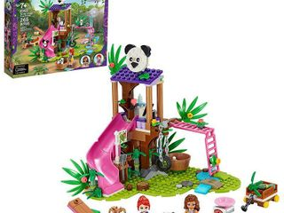 lEGO Friends Panda Jungle Tree House Set Features a Slide and 3 Panda Toys 41422