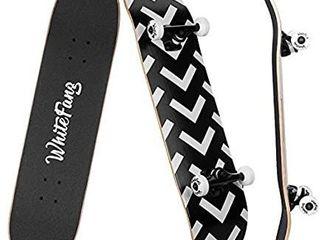 WhiteFang Skateboards for Beginners  Complete Skateboard