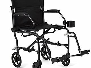Medline Ultralight Transport Wheelchair with 19a Wide Seat