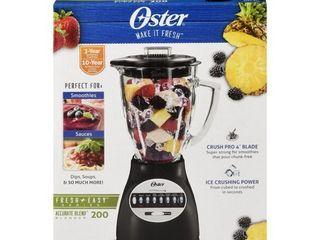 Oster BCBG08 B 6 Cup Glass Jar 8 Speed Blender   Black