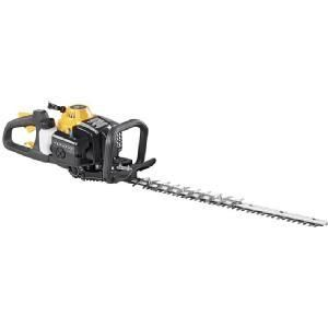 Poulan Pro 22 in  23cc 2 Cycle Gas Hedge Trimmer with 2 6 oz  50 1 Synthetic 2 Cycle Oil