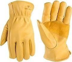 Men s Reinforced leather Work Gloves with Palm Patch  large  Wells lamont 1129