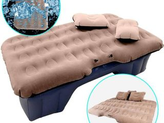HIRAlIY Car Air Mattress for Back Seat Inflatable Car Mattress Portable Travel Camping Mattress Sleep Bed for Road Trips Universal SUV Blow Up Mattress with 2 Air Pillow   Electric Air Pump