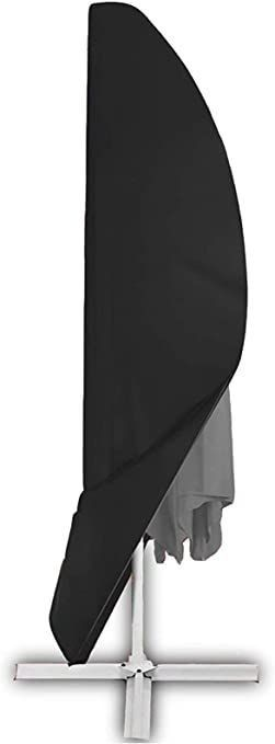 Offset Umbrella Cover  Patio Umbrella Cover for 9ft to 13ft Cantilever Parasol Outdoor Market Umbrellas Cover with Zipper and Water Resistant Fabric Dark