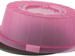 G   S Metal Products Company PBC45UH PK ProBake Teflon Xtra Nonstick Cake and Pastry Bakeware Carrier with Cover and Handles  12  Perfect Pink  Small Crack