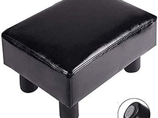 TOUCH RICH Footrest Small Ottoman Stool PU leather Modern Seat Chair Footstool  Brown