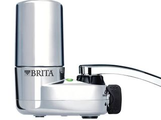 Brita 10060258356189 35618 Tap Water Filtration System  Fits Standard Faucets  Single Unit  Chrome w Indicator