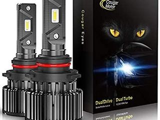 CougarMotor lED Headlight Bulbs All in One Conversion Kit   9005 10000 lm 6000K Cool White CREE