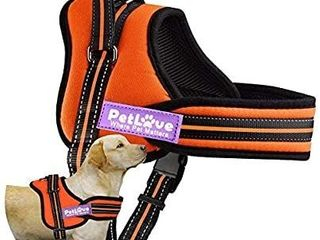 Petlove Dog Harness  Soft leash Padded No Pull Dog Harness with All Kinds of Size  XXSmall  Orange