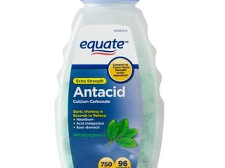 Equate Extra Strength Antacid Chewable Wintergreen Tablets  750 mg  96 Ct