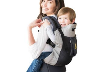 lAllAbaby CarryOn Airflow 3 in 1 Ergonomic Toddler   Child Carrier  Charcoal Silver   20 to 60 lbs