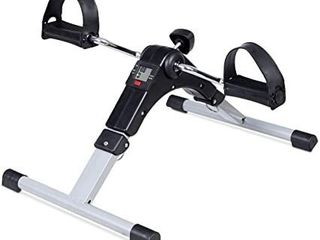 DECElI Under Desk Bike Pedal Exerciser Folding Portable Exercise Peddler with Electronic Display for legs and Arms Workouti1 4Blacki1 4
