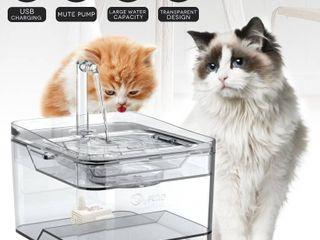 i2020 Newest Upgraded Cat Fountain for Pet 100oz 3l Dog Cat Water Fountain Automatic Drinking Fountain Dog Water Dispenser Ultra Quiet  Adjustable Water Flow Activated Carbon with Replaceable Filters