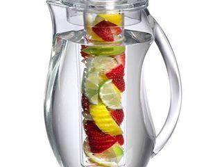 Prodyne Fruit Infusion Flavor Pitcher  2 9 qt clear  93 oz