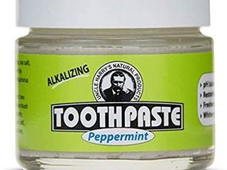Uncle Harry s Peppermint Remineralizing Toothpaste Organic   Natural Whitening Toothpaste Freshens Breath   Promotes Enamel   Vegan Fluoride Free Toothpaste  2 pack