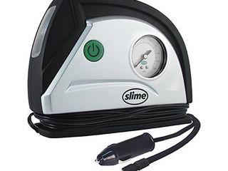Slime 12V Tire Inflator Portable Air Compressor Auto Pump with 100 psi Gauge  long Hose and lED light