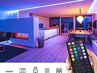 Novostella 40ft RGB lED Strip light kit  Flexible Color Changing 360 Units SMD 5050 lEDs  12V lED Tape with 44 Key RF Remote  Dimmable lED Ribbon for Home lighting Kitchen Bar Ul listed Power Supply