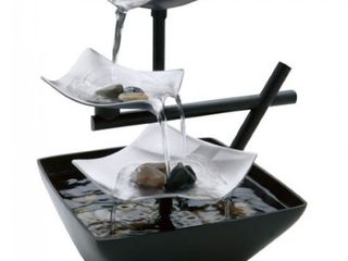 HoMedics WFl SlVS Envirascape Silver Springs Illuminated Relaxation Fountain with Natural Stones