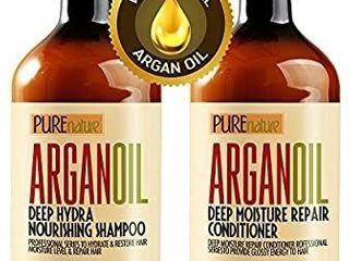 2  Purenature ArganOil Moroccan Argan Oil Hair Set  16 9floz each