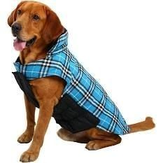 MIGOHI Dog Jackets for Winter Windproof Reversible Dog Coat for Cold Weather British Style Plaid Warm Dog Vest for Small Medium large Dogs  l