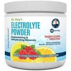 Dr  Berg s Original Electrolyte Powder  High Energy  Replenish   Rejuvenate Your Cells  45 Servings  NO Maltodextrin or Sugar  No Ingredients from China  Amazing Raspberry lemon Flavor  1 Pack