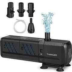 Thanger 400GPH Submersible Water Pump with Filters  Filtering Fountain Pump 1500l H  Aquarium Air Pump  Water Circulation System Oxygen Charging Wave Maker for Fish Tanks  Ponds  Pool  Waterfall