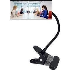 Ampper Clip On Security Mirror  Convex Cubicle Mirror for Personal Safety and Security Desk Rear View Monitors or Anywhere  6 69  x 2 95  Rectangle