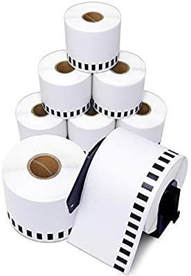Aegis Adhesives   Compatible DK 2205 Continuous Paper Tape  2 4  X 100 Ft  Replacement labels  Compatible with Brother Ql label Printers   8 Rolls   1 Frame