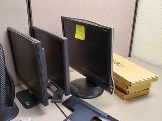 4  Computer Monitors  4 Keyboards