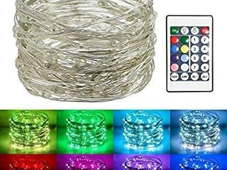 Koopower 100 led 32Ft Fairy lights Battery Operated Muticolor Changing String lights RGB Waterproof Firefly lights for Bedroom  Garden  Easter  Christmas Decoration  Remote and Timer