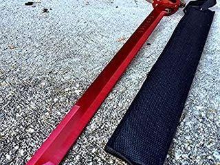 27  Ninja Sword Machete RED Full Tang Tactical Blade Katana New w Sheath