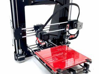 RepRap Prusa I3 Black 3D Printer Kit With Molded Plastic