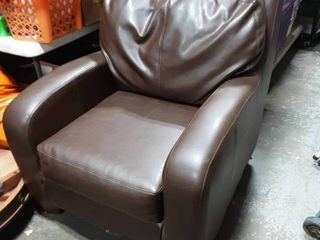 Brown Faux Leather Chair 32w x 36d x 38t
