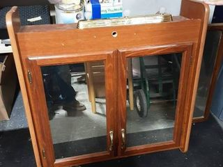 Wall Cabinet With 2-Mirrored Doors 33x32x9