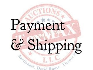 Payment & Shipping Information