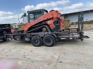 19 FT Double Axle Flatbed Trailer With Ramps
