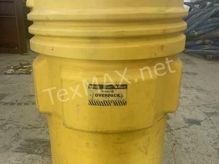 EAGLE 95 Gal. Overpack Drum, Open Head, Yellow