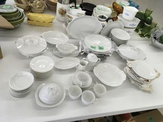 12 place setting of china, many accessories