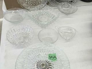 glass serving trays/bowls, more