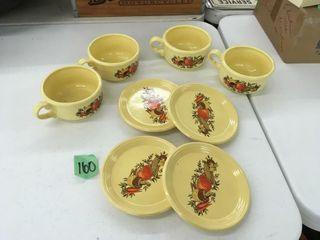 retro soup bowls/plates