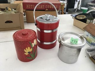retro ice bucket, crock canitster, pot