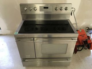 frigidaire stainless electric glass top stove