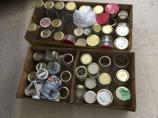 asst canning jars, 2 boxes