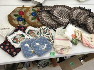 pot holders, chair pads, more