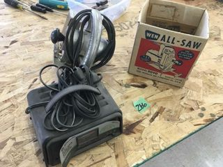 battery charger, jig saw