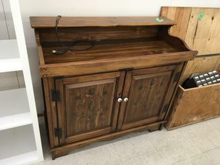 magnavox stereo in cabinet, cassettes/cd's