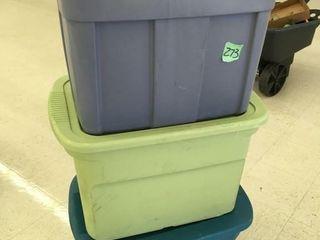 3 storage tubs