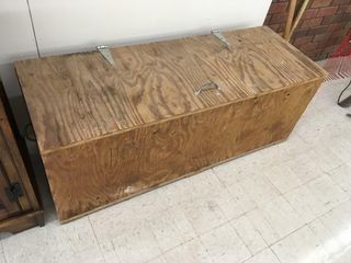 wood box w/handles, 48x17x18