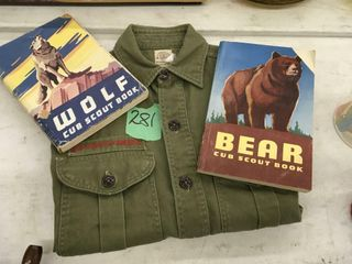 scouting shirt, w/books