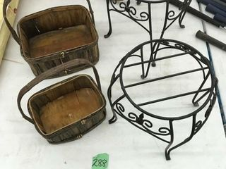 baskets/plant stands